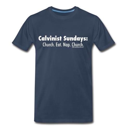 33 Calvinist Sundays white lettering - Men's Premium T-Shirt