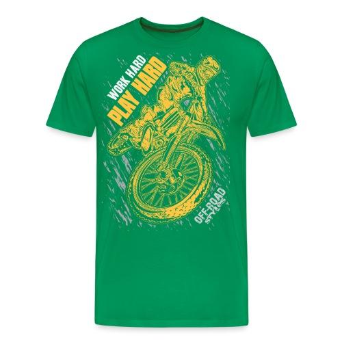 MX Play Hard Orange - Men's Premium T-Shirt