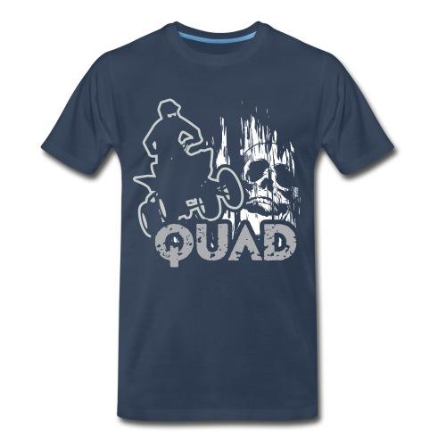ATV Quad Skull Screamer - Men's Premium T-Shirt