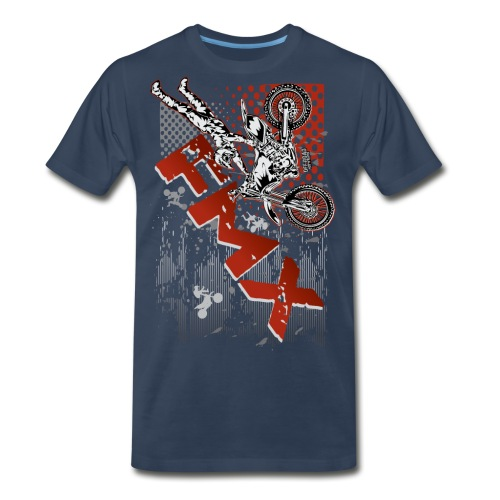 FMX Dirt Biker Red - Men's Premium T-Shirt