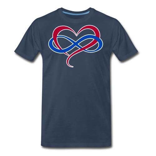 Polyamory Infinity Heart - Men's Premium T-Shirt