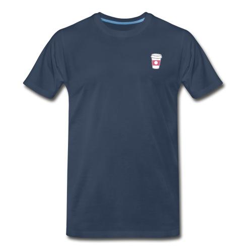 Pink Coffee Cup - Men's Premium T-Shirt