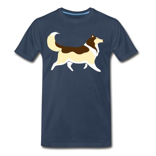 Sable Collie silhouette - Men's Premium T-Shirt