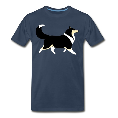Merle Collie silhouette - Men's Premium T-Shirt