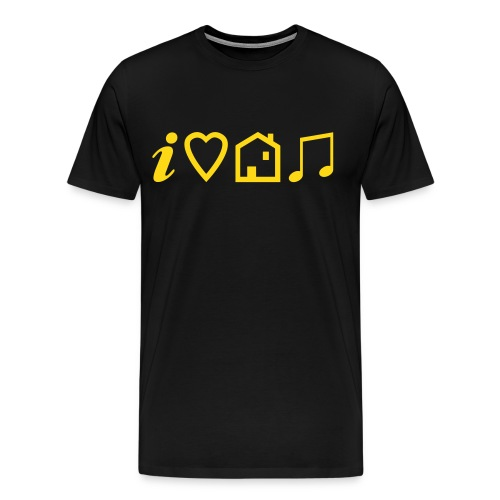 I Heart House Music - Symbolic Design 1 - Men's Premium T-Shirt
