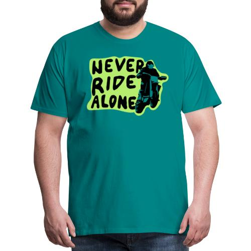 Never Ride Alone White - Men's Premium T-Shirt