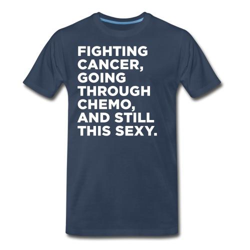 Cancer Fighter Quote - Men's Premium T-Shirt