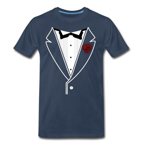 Tuxedo w/White Lapel - Men's Premium T-Shirt