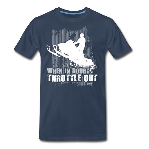 Snowmobile Doubt Throttle - Men's Premium T-Shirt