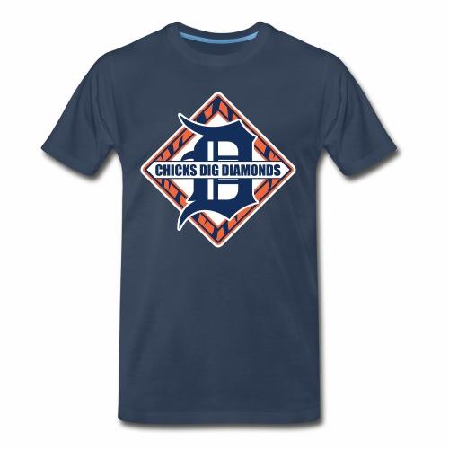 Chicks Dig Diamonds - Men's Premium T-Shirt