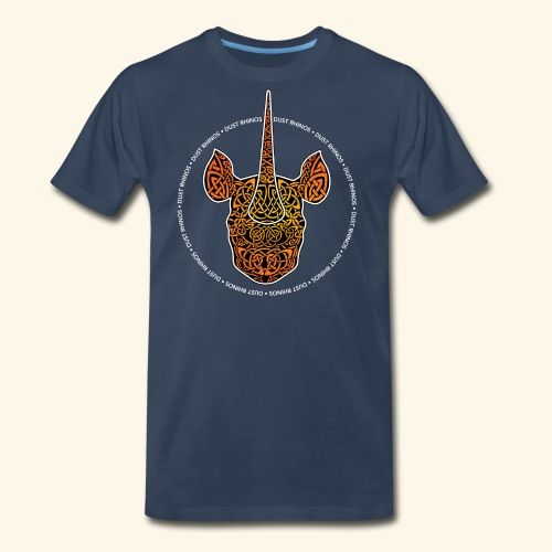 Dust Rhinos Orange Knotwork - Men's Premium T-Shirt