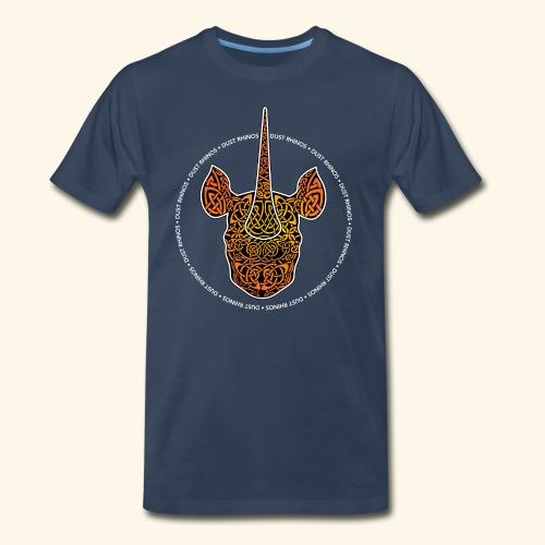 Dust Rhinos Orange Knotwork - Men's Premium T-Shirt