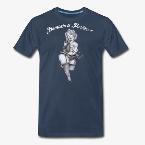 Bombshell Pasties + - Men's Premium T-Shirt