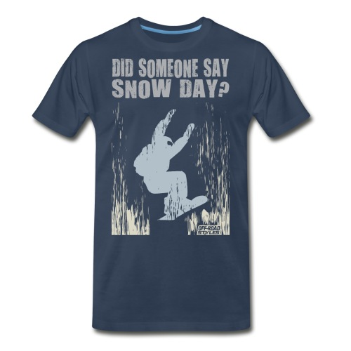 Snowboarding Snow Day - Men's Premium T-Shirt