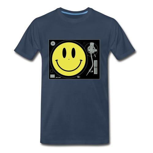 Smiley Turntable - Men's Premium T-Shirt
