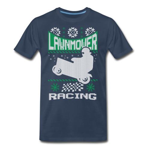 Lawnmower Ugly Christmas - Men's Premium T-Shirt