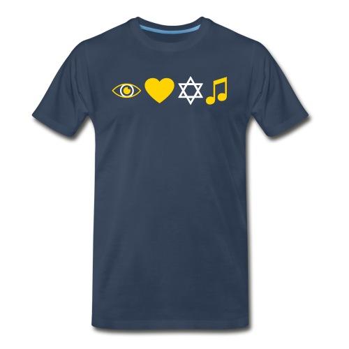 I Love Jewish Music - Men's Premium T-Shirt