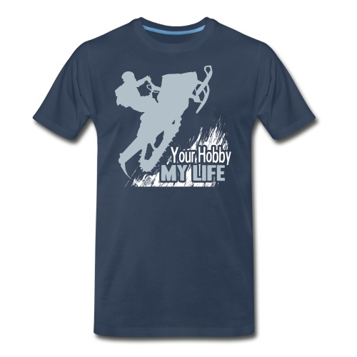Snowmobile Hobby Life - Men's Premium T-Shirt