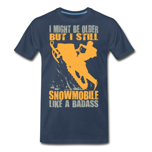 Snowmobile Old Badass - Men's Premium T-Shirt