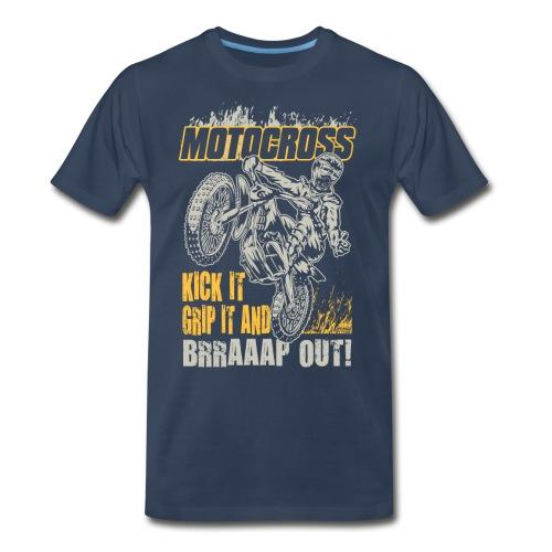 Motocross Kick It Stunt - Men's Premium T-Shirt