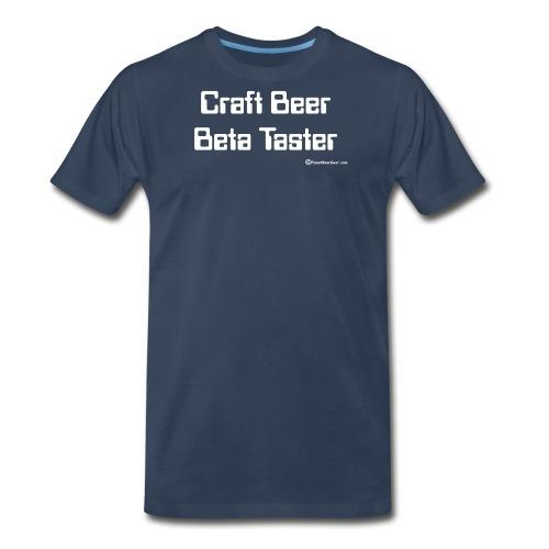 Craft Beer Beta Taster white png - Men's Premium T-Shirt