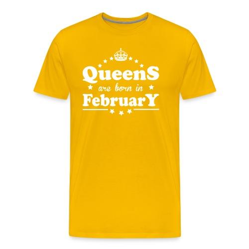 Queens are born in February - Men's Premium T-Shirt