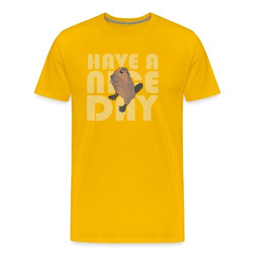 beaver - Men's Premium T-Shirt