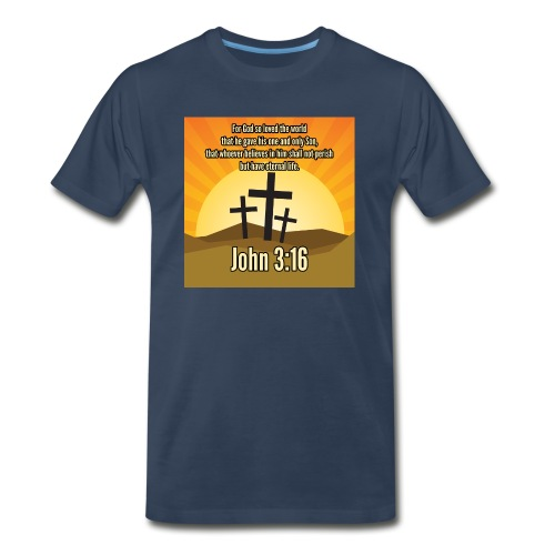 John 3:16 - the most widely quoted Bible verses? - Men's Premium T-Shirt