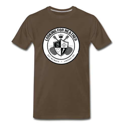 Looking For Heather - Crest Logo - Men's Premium T-Shirt