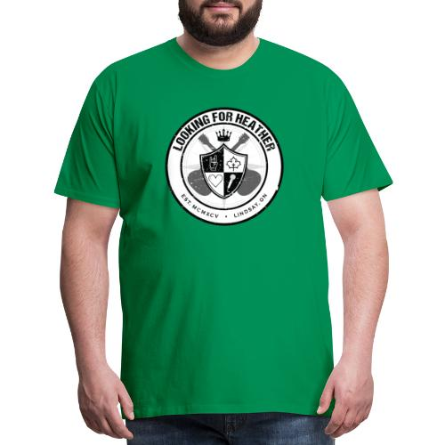Looking For Heather - Crest Logo - Men's Premium T-Shirt