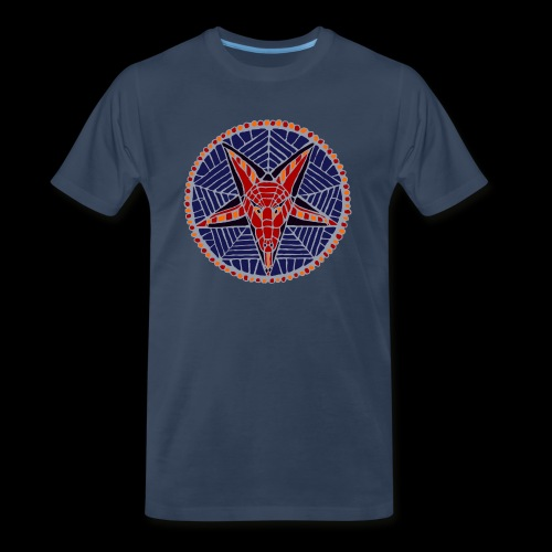 Corpsewood Stained-Glass Baphomet - Men's Premium T-Shirt