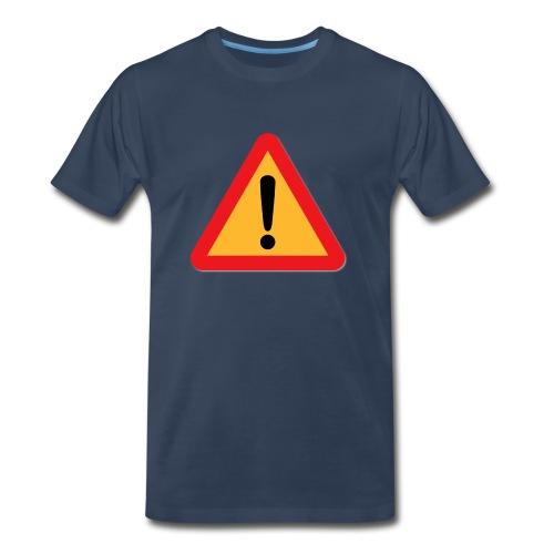 Attention - Warning sign - Men's Premium T-Shirt