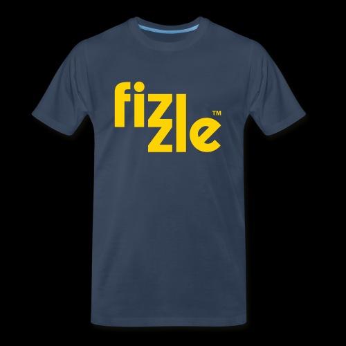 WearFizzle Logo Yellow - Men's Premium T-Shirt