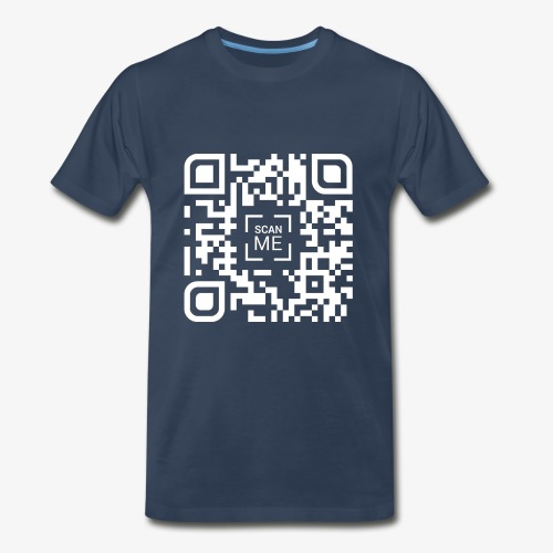 QR code (white) - Men's Premium T-Shirt