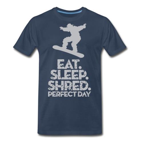 Snowboarder Shred - Men's Premium T-Shirt
