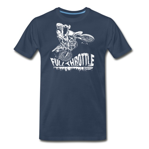 Dirt Biker Full Throttle - Men's Premium T-Shirt