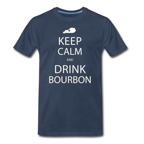 Keep Calm and Drink Bourbon - Men's Premium T-Shirt
