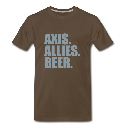 Axis. Allies. Beer. Axis & Allies - Men's Premium T-Shirt