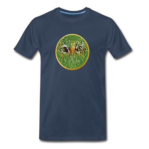 Tiger In The Grass - Men's Premium T-Shirt
