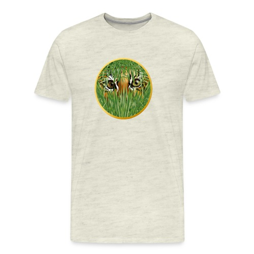 Tiger In The Grass - Men's Premium T-Shirt