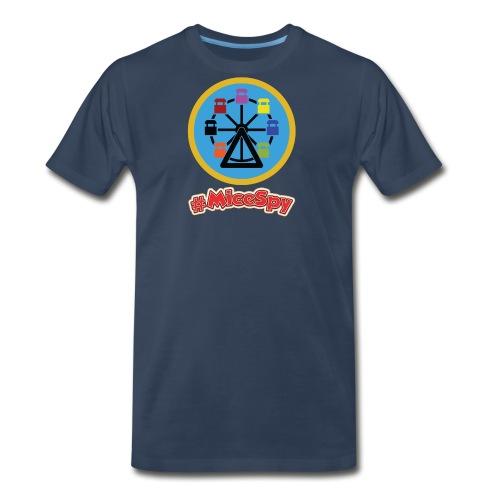 Mickeys Fun Wheel Explorer Badge - Men's Premium T-Shirt
