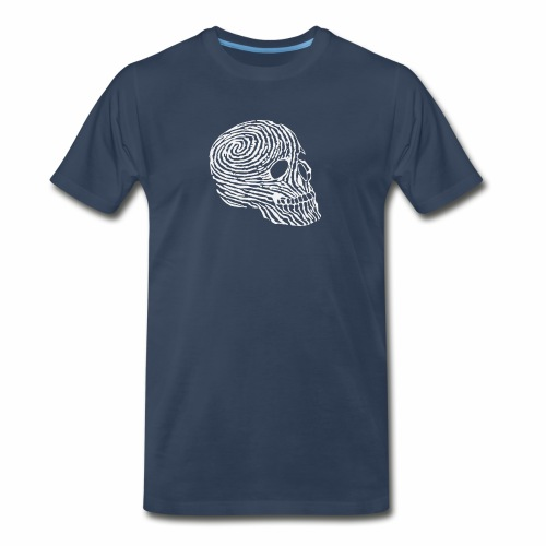 Skull Human Fingerprint Funny - Men's Premium T-Shirt