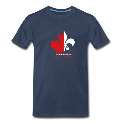 Maple Leaf Fleur de lis - Men's Premium T-Shirt