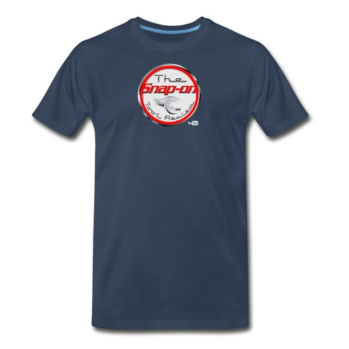 red logo white youtube - Men's Premium T-Shirt