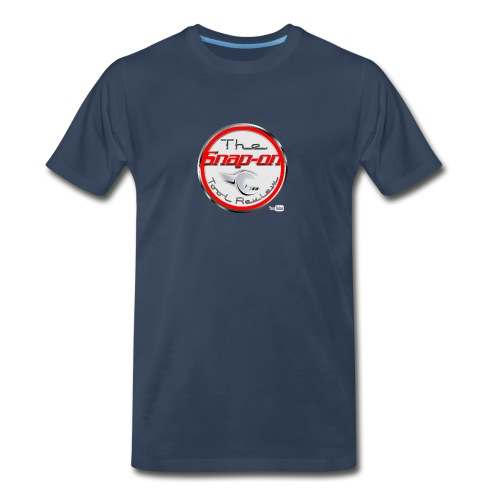 red logo white youtube - Men's Premium T-Shirt