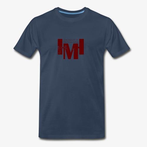 YouTube's Master Human: Grunge Underground Logo - Men's Premium T-Shirt
