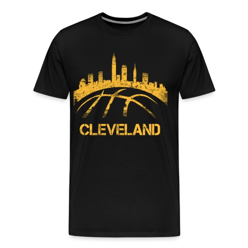 Cleveland Basketball Skyline - Men's Premium T-Shirt