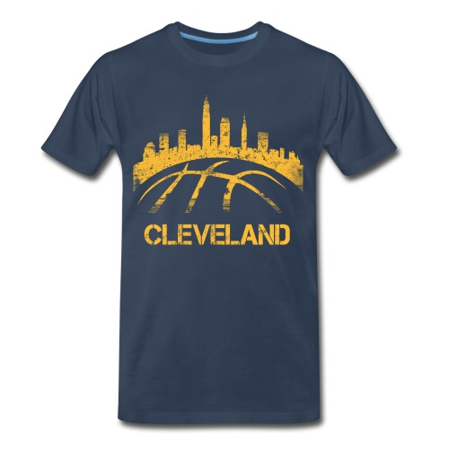 Cleveland Basketball Skyline - Men's Premium T-Shirt