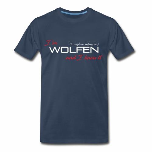 Front/Back: Wolfen Atitude on Dark - Adapt or Die - Men's Premium T-Shirt