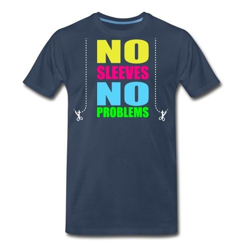 nosleevesneonwhite - Men's Premium T-Shirt